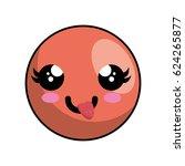 cute face kawaii style | Shutterstock .eps vector #624265877