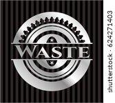 waste silver shiny emblem | Shutterstock .eps vector #624271403