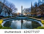 reflection of the washington... | Shutterstock . vector #624277157