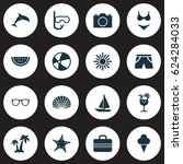 hot icons set. collection of... | Shutterstock .eps vector #624284033