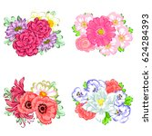 flower set | Shutterstock . vector #624284393