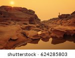 unseen thailand stone canyon at ... | Shutterstock . vector #624285803