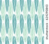 seamless pattern with feather   Shutterstock .eps vector #624290843