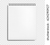 notebook mockup with place for... | Shutterstock .eps vector #624290927