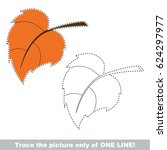 autumn leaf to be traced only... | Shutterstock .eps vector #624297977