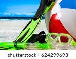 summer vacation on the seaside...   Shutterstock . vector #624299693