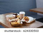 tasty junk food restaurant menu ... | Shutterstock . vector #624330503