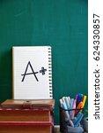 a plus grade mark | Shutterstock . vector #624330857