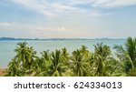 seascape over the palms ... | Shutterstock . vector #624334013