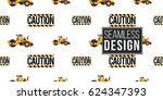 seamless pattern with road... | Shutterstock .eps vector #624347393