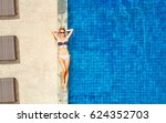 top view of slim young woman in ... | Shutterstock . vector #624352703