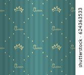 royal style seamless pattern... | Shutterstock .eps vector #624363533