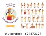 ready to use character set.... | Shutterstock .eps vector #624373127