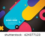 vector of modern abstract... | Shutterstock .eps vector #624377123
