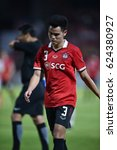 Small photo of BANGKOK-THAILAND-12APR,2017:Theerathon boonmatan player of SCG muangthong in action during AFC competition between MTUTD and Ulsan hyundai at SCG Stadium,Thailand