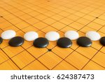 go game or weiqi  chinese board ... | Shutterstock . vector #624387473
