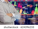 stock market digital graph... | Shutterstock . vector #624396233