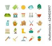 garden tools  gardening... | Shutterstock .eps vector #624403997