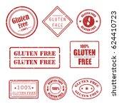 gluten free grunge rubber... | Shutterstock .eps vector #624410723