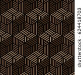 black and brown geometric... | Shutterstock .eps vector #624418703