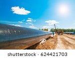 gas pipeline construction | Shutterstock . vector #624421703