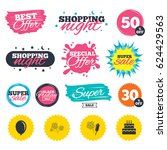 sale shopping banners. special... | Shutterstock .eps vector #624429563