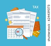 tax payment. government  state... | Shutterstock .eps vector #624439373