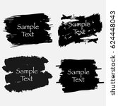 set of black paint  ink brush... | Shutterstock .eps vector #624448043