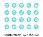 wedding icons | Shutterstock .eps vector #624455363