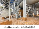 Small photo of Stair next to the cooling drum mold at the plant for the production of ammonium nitrate