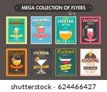 collection of eight flyers ... | Shutterstock .eps vector #624466427