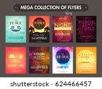 mega collection of creative... | Shutterstock .eps vector #624466457