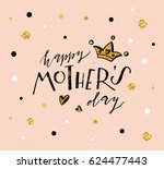 happy mother's day text as... | Shutterstock .eps vector #624477443