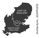 east of england   greater... | Shutterstock .eps vector #624491033