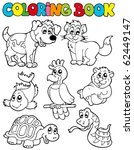 coloring book with pets 2  ... | Shutterstock .eps vector #62449147