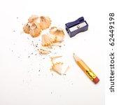 pencil sharpener and wood...   Shutterstock . vector #62449198