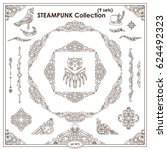 vector steampunk elements for... | Shutterstock .eps vector #624492323