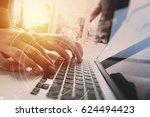 brainstorm teamwork meeting... | Shutterstock . vector #624494423