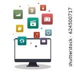 computer and media app design | Shutterstock .eps vector #624500717