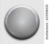 white glossy badge or button. | Shutterstock .eps vector #624508433