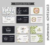 artistic business card set. | Shutterstock .eps vector #624511613