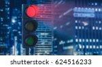 traffic lights showing red....   Shutterstock . vector #624516233