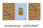 cover design for notebooks or... | Shutterstock .eps vector #624519647