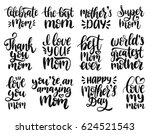 happy mother's day hand... | Shutterstock .eps vector #624521543