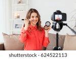 blogging  technology  videoblog ... | Shutterstock . vector #624522113