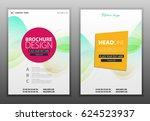 modern vector abstract brochure ... | Shutterstock .eps vector #624523937