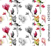 seamless pattern with original... | Shutterstock . vector #624524333
