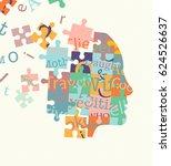 vector puzzle illustration.... | Shutterstock .eps vector #624526637