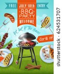 Barbecue Party Poster With...