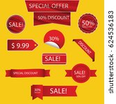 sale tags. sale banners set.... | Shutterstock .eps vector #624536183